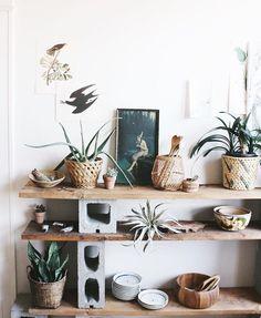 Shelves // cement block