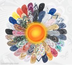 Summer Flip Flops summer colorful shoes sun rainbow flip flops flipflop