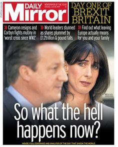 Daily Mirror Saturday 25th June 2016