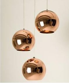 gorgeous pendant lighting, love these for either side of my bed against a mint wall