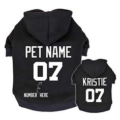 personalize your pet with this cute hoodie.