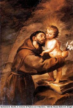 Oil - Painting San Antonio de Padua from Bartolome Esteban Murillo () - Buy hand painted oil reproduction Poster Giclee. Spanish Painters, Spanish Artists, Francis Of Assisi, St Francis, Religious Images, Religious Art, Esteban Murillo, Friend Of God, Saint Anthony Of Padua