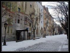 Skadarska-Street, bohemian quarter in Belgrade, Serbia: Dec 2005