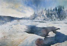 Winter river by GreeGW on DeviantArt