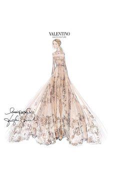 Frida Giannini wedding gown designed by Valentino 's Maria Grazia Chiuri and Pierpaolo Piccioli June 2015.