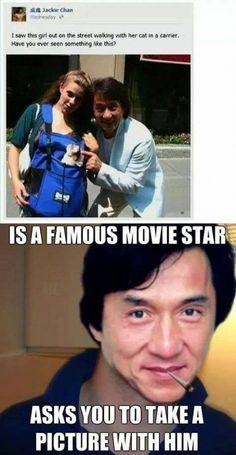 Funny pictures about Jackie Chan takes all his own pictures. Oh, and cool pics about Jackie Chan takes all his own pictures. Also, Jackie Chan takes all his own pictures. Funny Shit, Funny Cute, Funny Posts, The Funny, Funny Memes, Hilarious, Funny Stuff, Jokes, Funny Things