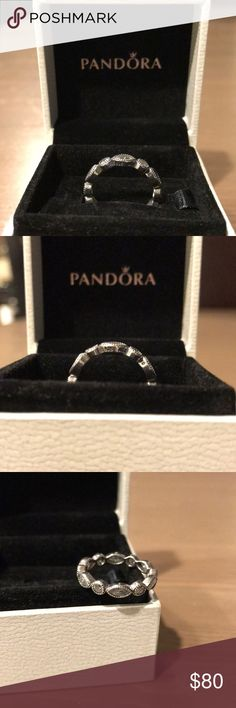 Pandora Alluring Brilliant Marquise Ring Beautiful! Classy! Just enough sparkle for an everyday wear! Excellent Condition! Worn only a few times! Just brought this into Pandora for a cleaning! Size 5 ( 50 ) Ring box included with the sale!   NO TRADES! Absolutely NO low ballers!  Please review all pictures and ask any questions before purchase, SOLD AS IS!   Thank you for looking and Happy Poshing!  Check out my closet for more accessory listings! Pandora Jewelry Rings