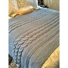Christmas Knitting Patterns, Easy Knitting Patterns, Cool Patterns, Free Knitting, Knitting Projects, Big Knit Blanket, Knitted Blankets, Blue Sky Fibers, Big Knits