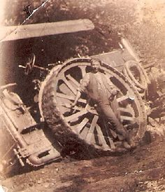 Henry was shown as a 'traction engine steerman' in He is pictured a year earlier with a traction engine leaning at quite an angle after the earth beneath it had apparently given way Allg, Kingston, Locomotive, Families, Engineering, Old Things, Photos, Pictures, Earth