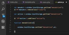 Usando el template de #AdminLTE me encuentro que no tiene resuelto el #ActiveMenu, menú activo. Aquí la solución:  📌 👉A cada elemento <li> del menú asignar un id y tener un evento OnClick que guarde en LocalStorage 📌 👉 Luego .removeClass y .AddClass con #Jquery ¡Listo! 👀 🙌