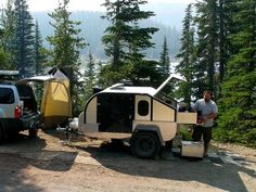 Pictures of people camping in teardrop trailers Camper Caravan, Teardrop Trailer, Pictures Of People, Golf Carts, Camping, Adventure, Lifestyle, Projects, Outdoor