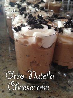 Amazing Nutella Cheesecake.