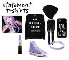 """""""Love Speaks For Itself"""" by small-and-cute on Polyvore featuring Wildfox, Vanessa Mooney, MAC Cosmetics, Converse, Casetify and Patagonia"""