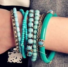 Retro jewelry bohemian ocean winds refreshing blue beads