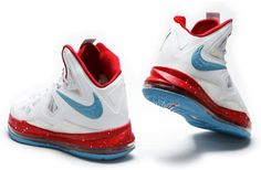 http://www.asneakers4u.com Nike Lebron 10 White/Red/Blue1