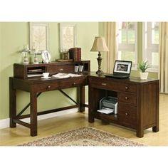 Castlewood Writing Desk Hutch I Riverside Furniture