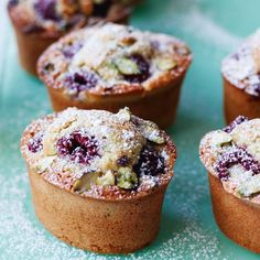 Raspberry and Pistachio Friands Recipe Friands Recipe, Sweet Recipes, Cake Recipes, French Dessert Recipes, Bread Recipes, Pistachio Cake, Fairy Cakes, Cupcakes, Little Cakes