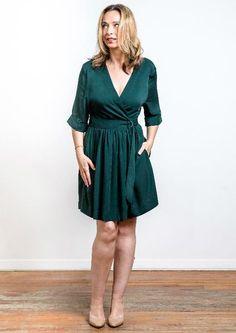 Wrap Dress w/ Belt | Shopgirls | Canadian Women's Clothing