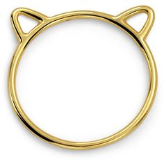 Bling Jewelry Dainty Kitty Ring (230 MXN) ❤ liked on Polyvore featuring jewelry, rings, top finger rings, cat ears ring, mid-finger rings, midi rings and mid knuckle rings