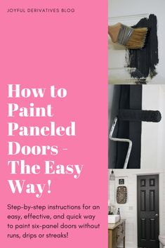 Paint Door / Paint Doors Interior / Creative / Ideas / Shades / Gray / Paint Doors Black / Interior / Exterior / Brass / Artistic / Paneled Doors / DIY / Makeover / Color / How to Paint / Paneled Doors Ideas / Entrance