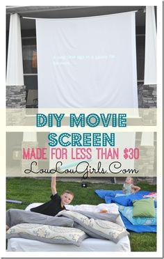 #DIY Outdoor Movie Screen via @theloulougirls #sundaysdownunder