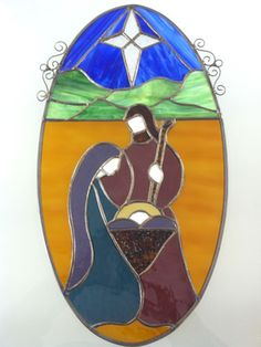 Angel Stained Glass Patterns | Christmas Nativity Window Scene [FPW1458] - $95.00 : Marilyn's Stained ...