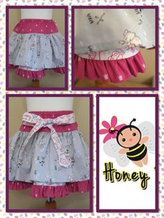 the super ruffle skirt - perfect for those little girls who love to twirl.  Made in the fabrics of your choice.    Find me on facebook.... www.facebook.com/honeybeesboutiqueUK