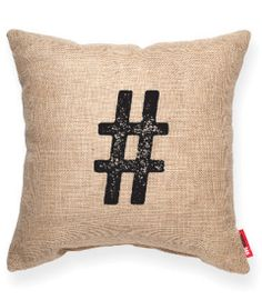 # Burlap Decorative Pillow