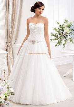 Glamouröse A-Linie Hochzeitskleider aus Softnetz