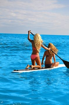 SUP Duo... Yes I realize this is not a kayak. But are they exercising? Well, Yeah!