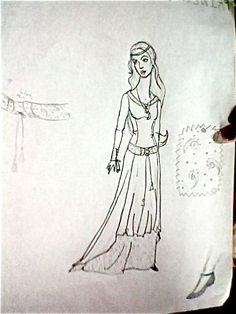 sketch for the previous dress