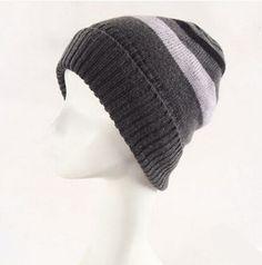 008085eeb8f Winter striped beanie hat for women thick fleece knit hat · Beanie Hats ...