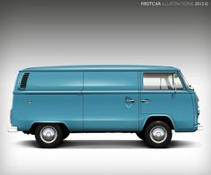 1975 - VOLKSWAGEN PANEL VAN - firstcar illustrations