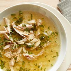 Portuguese Chicken, Lemon and Mint Soup Recipe