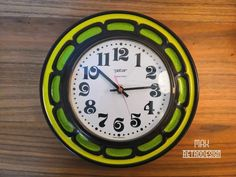Peter retro vintage clock from the green 1 Peter, Clock, Retro, Wall, Design, Retro Clock, Retro Vintage, Female Fashion, Watch