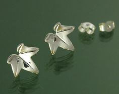 Ivy leaf stud earring in 925 sterling silver €14.00 plus shipping