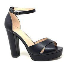 f64a922692a34d Angkorly - Chaussure Mode Escarpin Sandale soirée Glamour Plateforme Femme  Lanières croisées Rayures Traits métallique Talon