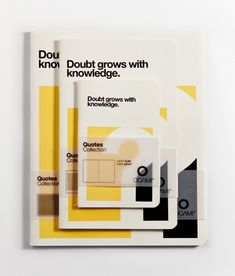 """""""Doubt grows with knowledge""""    #cover #grafica #quotes"""
