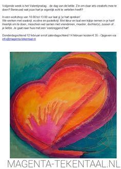 Laat je hart spreken. Hart, Magenta, Pandora, Painting, Painting Art, Paintings