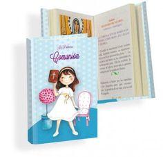 Misal Primera Comunión niña smile  Libros para Primera ComuniónMisal de Primera Comunión, con dibujo de niña con original vestido de comunión y biblia en la mano.