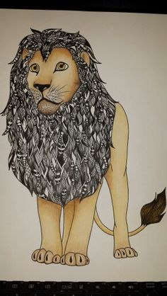 Zentangle lion Shawna pierce