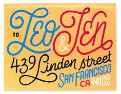 lettering work of San Francisco based, Erik Marinovich typography letters