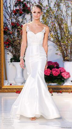 anne barge spring 2017 bridal spagetti strap sweetheart neckline bustier lace bodice beautiful satin mermaid wedding dress sweep train (001) mv