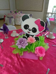 Panda Themed Party, Panda Birthday Party, Panda Party, Unicorn Birthday Parties, Unicorn Party, Panda Decorations, Girl Birthday Decorations, Girl Baby Shower Decorations, Diy Party Crafts