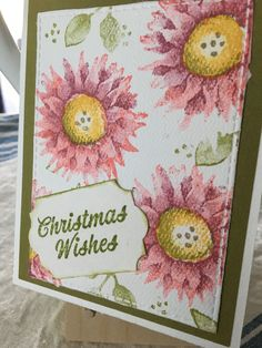 Stampin up Painted Harvest  used for a Christmas card