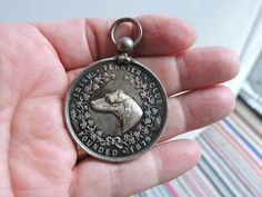 Dublin Ireland Irish Terrier Club Harmony Silver 1891 Prize Medal Award Coin Award Original Gibson Co Jeweler Case Award Coin Trophy Vintage Irish Terrier, Dublin Ireland, Gifts For Him, Vintage Items, Unisex, Club, Jewels, Sterling Silver, Accessories