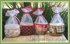 29 Ideas For Basket Fabric Scrap Diy Home Crafts, Sewing Crafts, Fabric Gift Bags, Sewing Baskets, Patch Quilt, Recycled Crafts, Bottle Crafts, Easter Baskets, Fabric Scraps