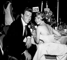 """Academy Awards: 32nd Annual,"" Robert Wagner and Natalie Wood."