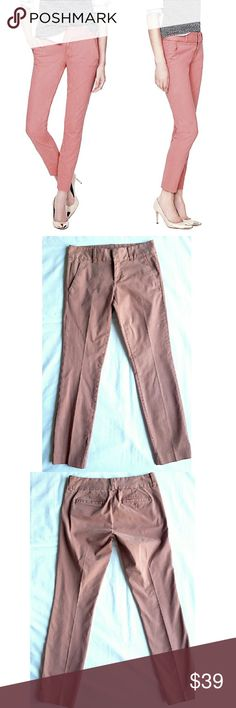"J. Crew Andie Crop Pants Cutest chino cropped pants. 4 pockets, zipper closure,  belt loops. 15.5"" waist, 9"" rise,  27.5"" inseam.  98% cotton 2% spandex. Worn a handful of times,  in excellent condition. J. Crew Pants Ankle & Cropped"