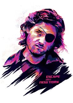 Snake Plissken from the film Escape From New York Artist unknown